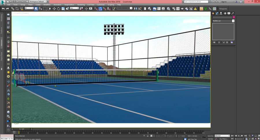Tennis Court royalty-free 3d model - Preview no. 27