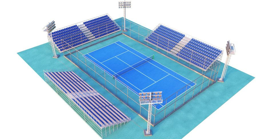 Tennis Court royalty-free 3d model - Preview no. 7