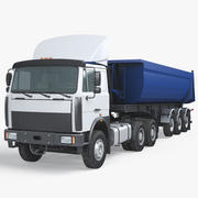 Dump Semi Truck 3d model