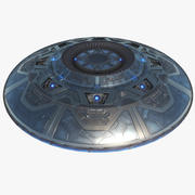 UFO Alien Spaceship Flying Saucer (1) 3d model