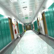 Школьная прихожая 3d model