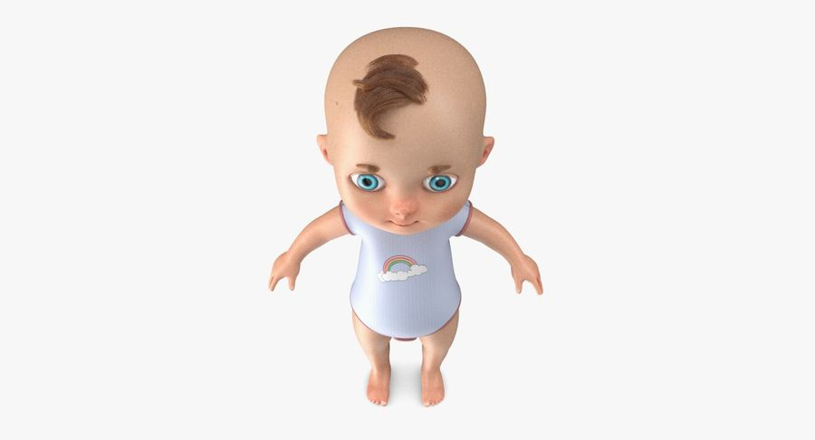 Cartoon Baby royalty-free 3d model - Preview no. 11
