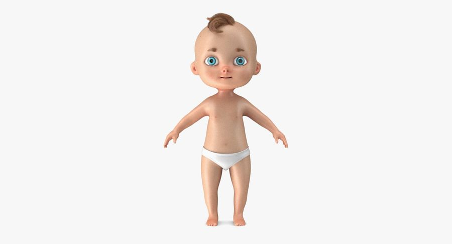 Cartoon Baby royalty-free 3d model - Preview no. 14