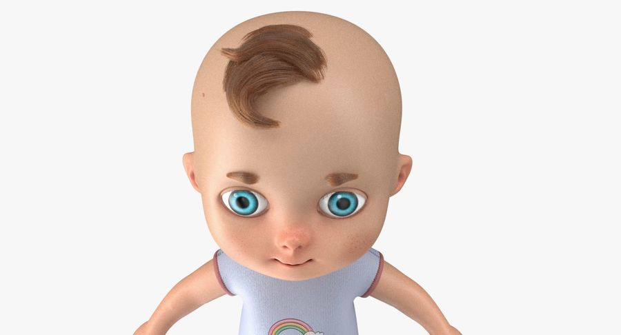 Cartoon Baby royalty-free 3d model - Preview no. 18