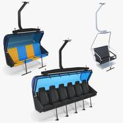 Colección de asientos de telesilla modelo 3d