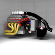 Moteur Pro Racing Drag Racing 3d model