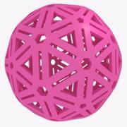 Uma bola de borracha para cães. Esfera. 3d model