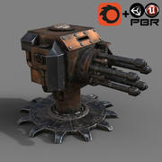 Steampunk Turret 3d model