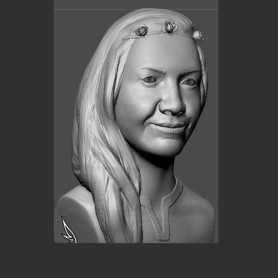 genç kadın royalty-free 3d model - Preview no. 2