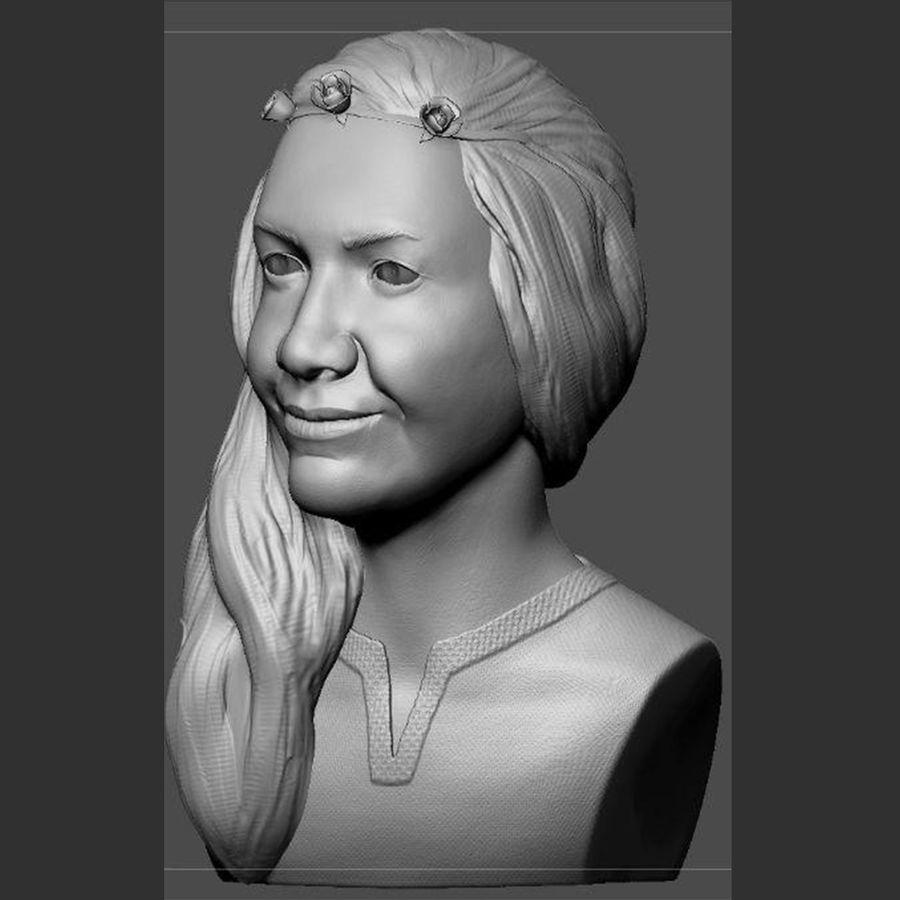 genç kadın royalty-free 3d model - Preview no. 3