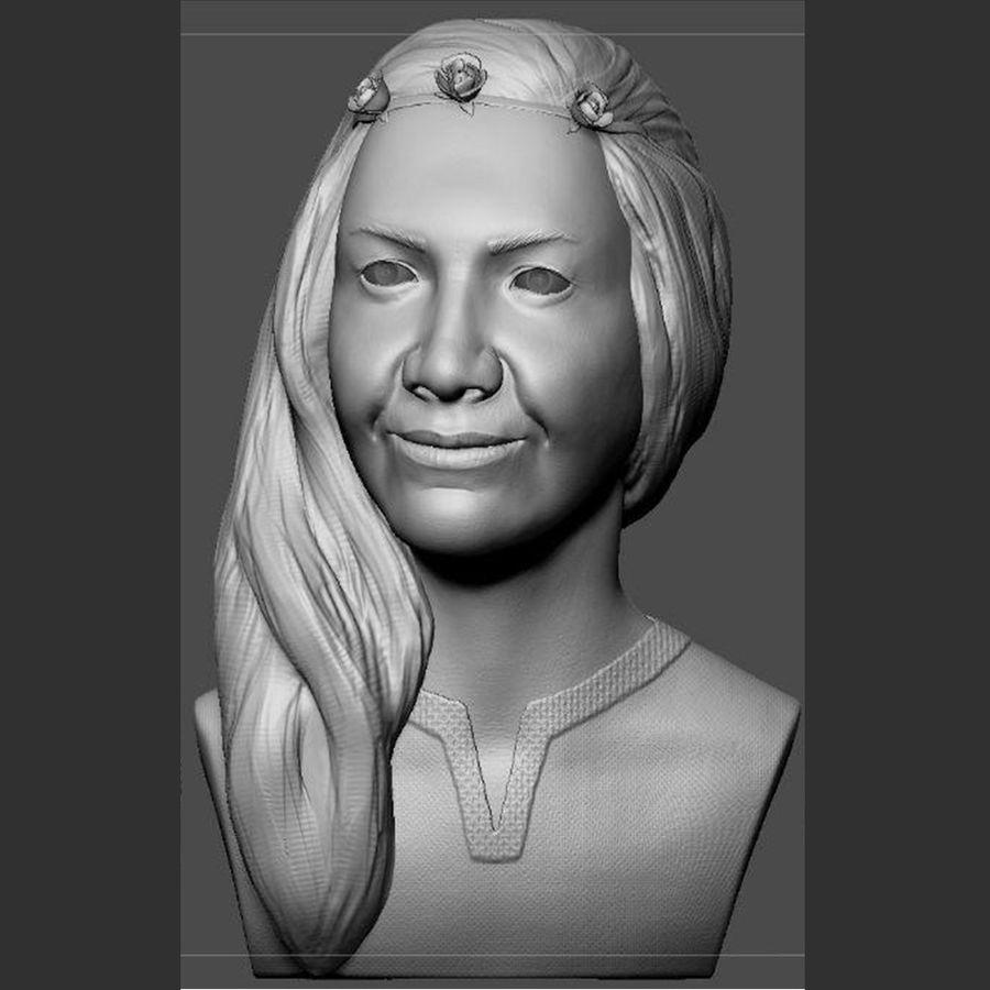 genç kadın royalty-free 3d model - Preview no. 1