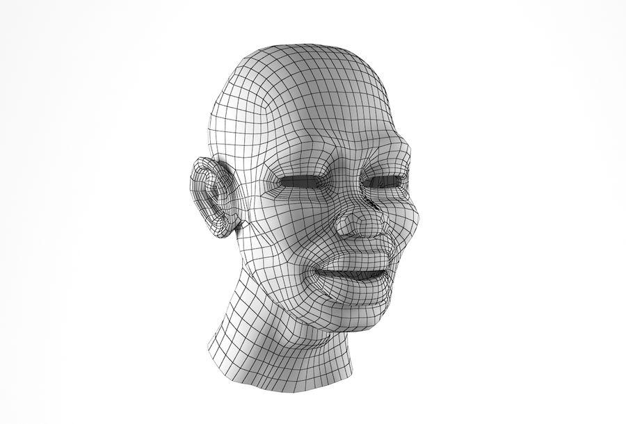 Cabeça de homem Africano Basemesh royalty-free 3d model - Preview no. 17