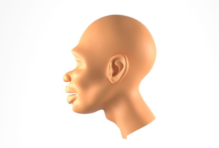 Cabeça de homem Africano Basemesh royalty-free 3d model - Preview no. 11