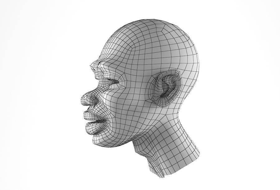Cabeça de homem Africano Basemesh royalty-free 3d model - Preview no. 28