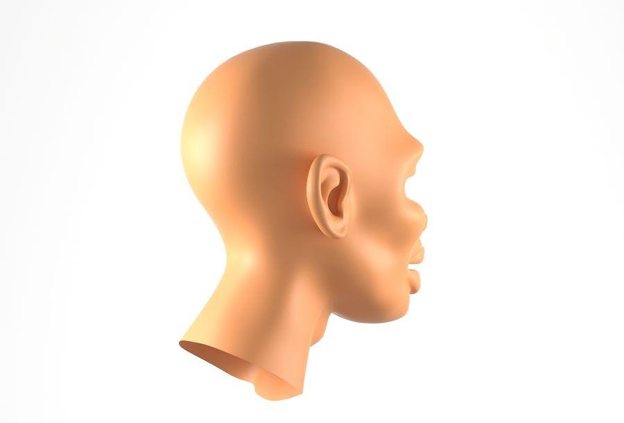 Cabeça de homem Africano Basemesh royalty-free 3d model - Preview no. 5