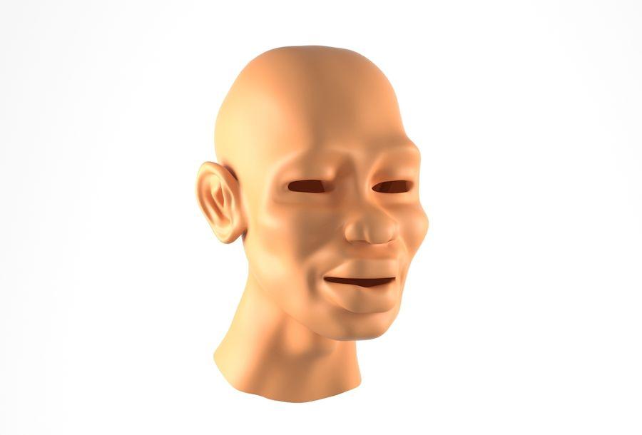 Cabeça de homem Africano Basemesh royalty-free 3d model - Preview no. 1
