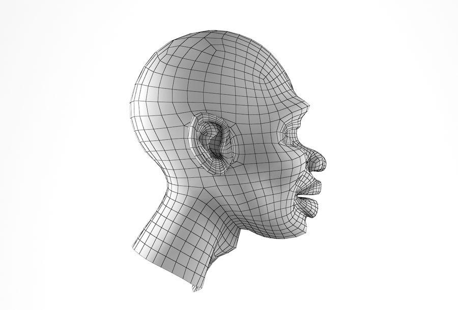 Cabeça de homem Africano Basemesh royalty-free 3d model - Preview no. 20