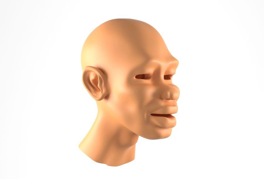 Cabeça de homem Africano Basemesh royalty-free 3d model - Preview no. 2