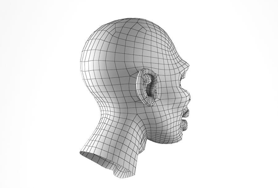Cabeça de homem Africano Basemesh royalty-free 3d model - Preview no. 21