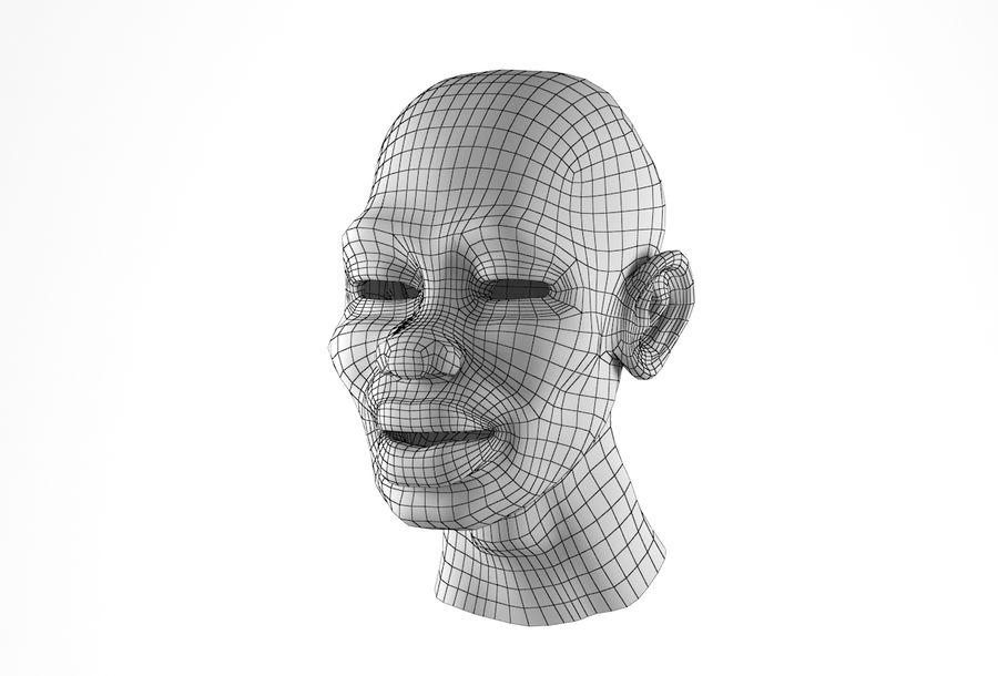 Cabeça de homem Africano Basemesh royalty-free 3d model - Preview no. 30