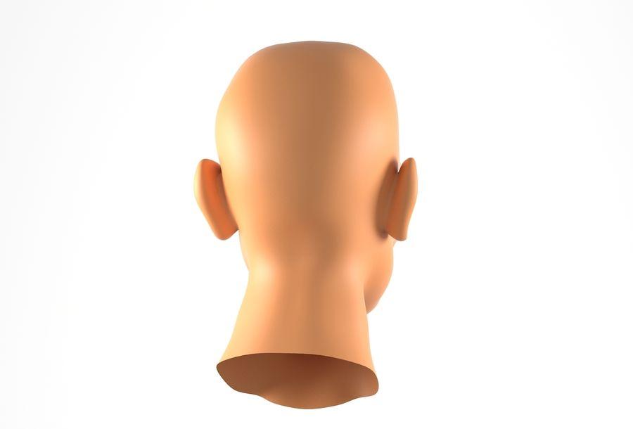 Cabeça de homem Africano Basemesh royalty-free 3d model - Preview no. 7