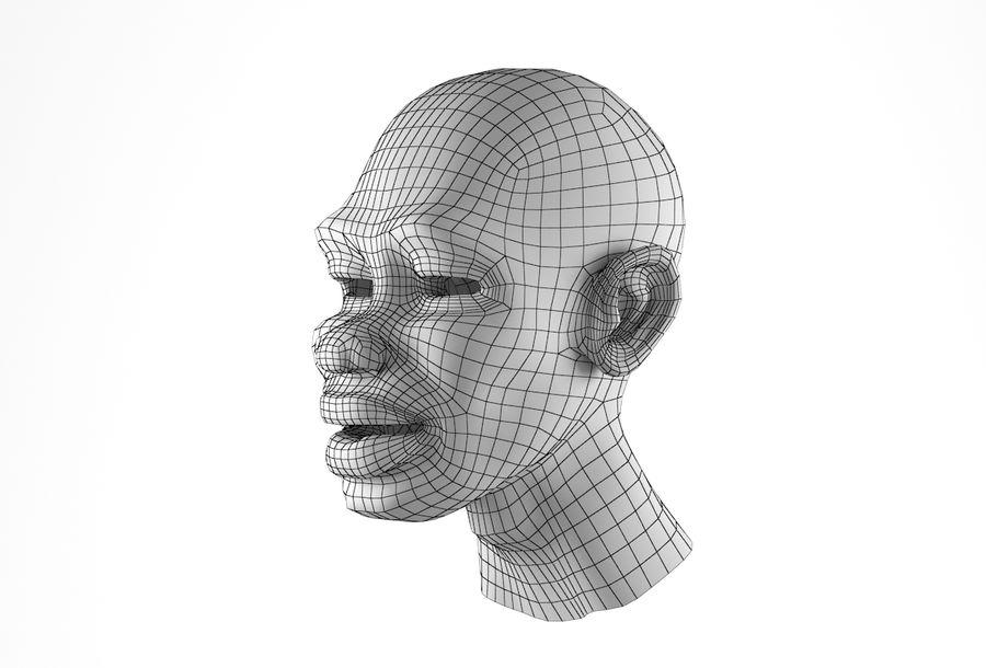 Cabeça de homem Africano Basemesh royalty-free 3d model - Preview no. 29