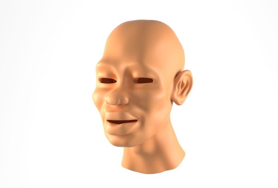 Cabeça de homem Africano Basemesh royalty-free 3d model - Preview no. 14