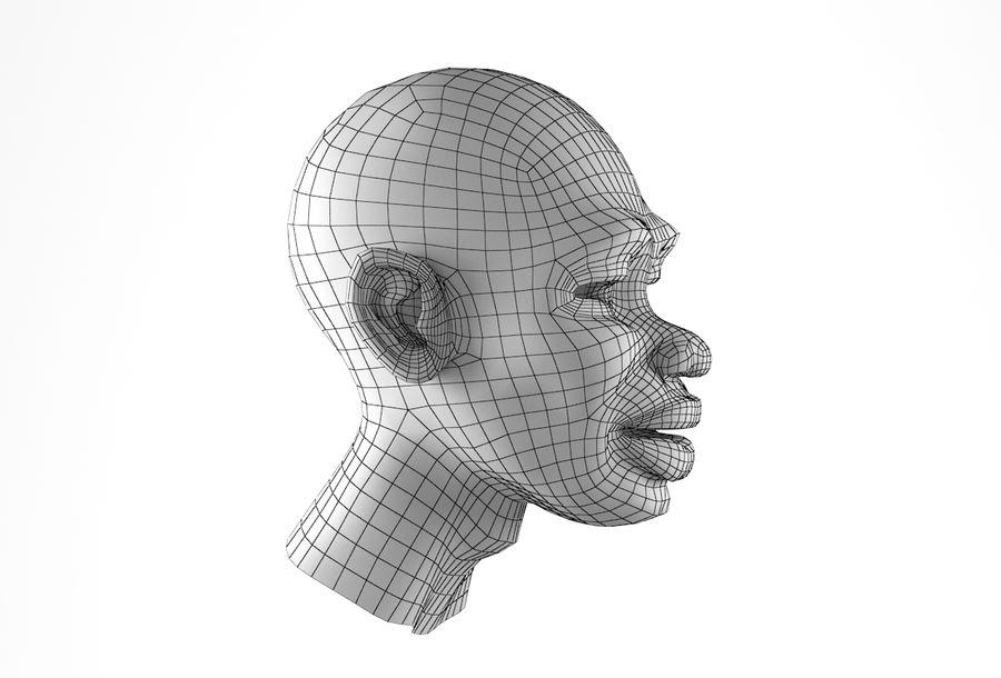 Cabeça de homem Africano Basemesh royalty-free 3d model - Preview no. 19