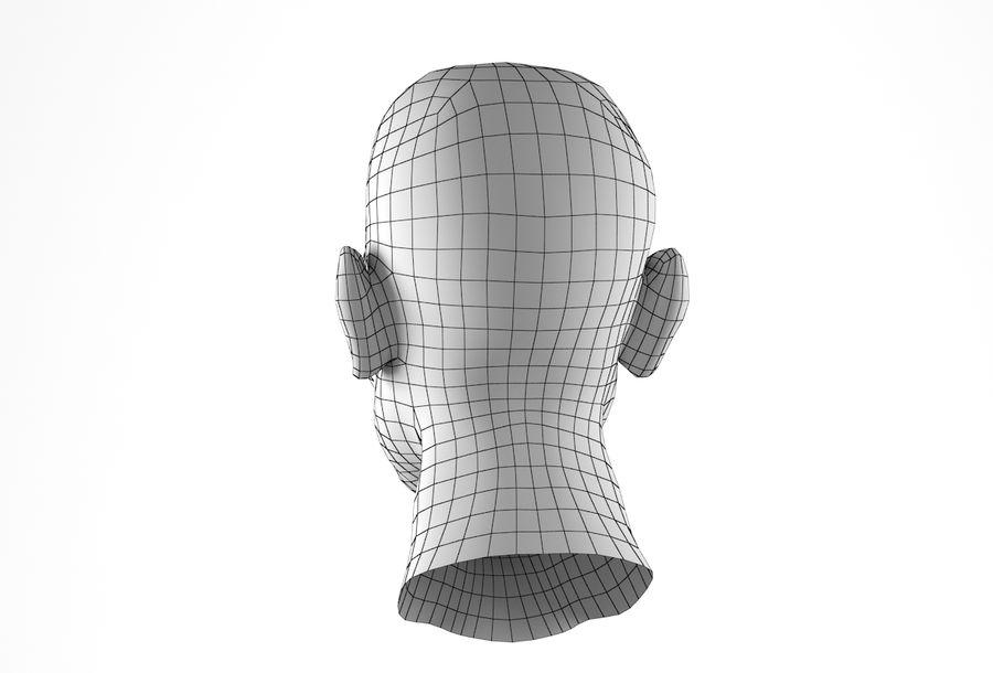 Cabeça de homem Africano Basemesh royalty-free 3d model - Preview no. 24