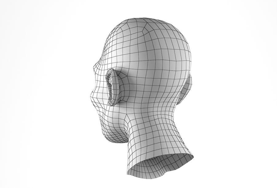 Cabeça de homem Africano Basemesh royalty-free 3d model - Preview no. 25