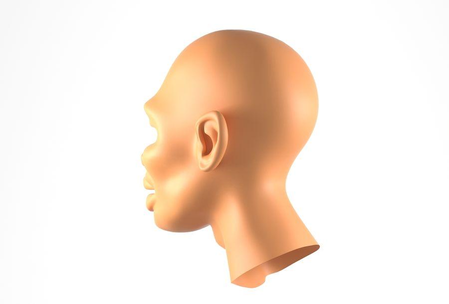 Cabeça de homem Africano Basemesh royalty-free 3d model - Preview no. 10