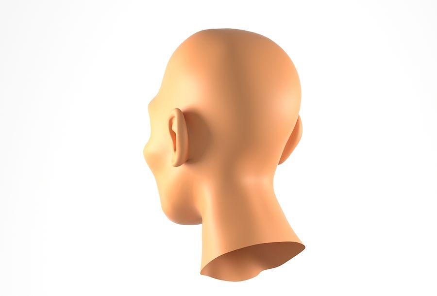 Cabeça de homem Africano Basemesh royalty-free 3d model - Preview no. 9