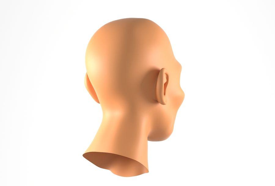 Cabeça de homem Africano Basemesh royalty-free 3d model - Preview no. 6