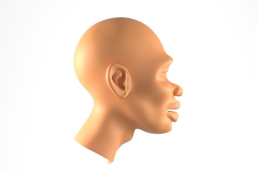 Cabeça de homem Africano Basemesh royalty-free 3d model - Preview no. 4