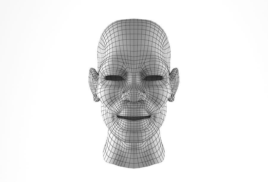 Cabeça de homem Africano Basemesh royalty-free 3d model - Preview no. 31