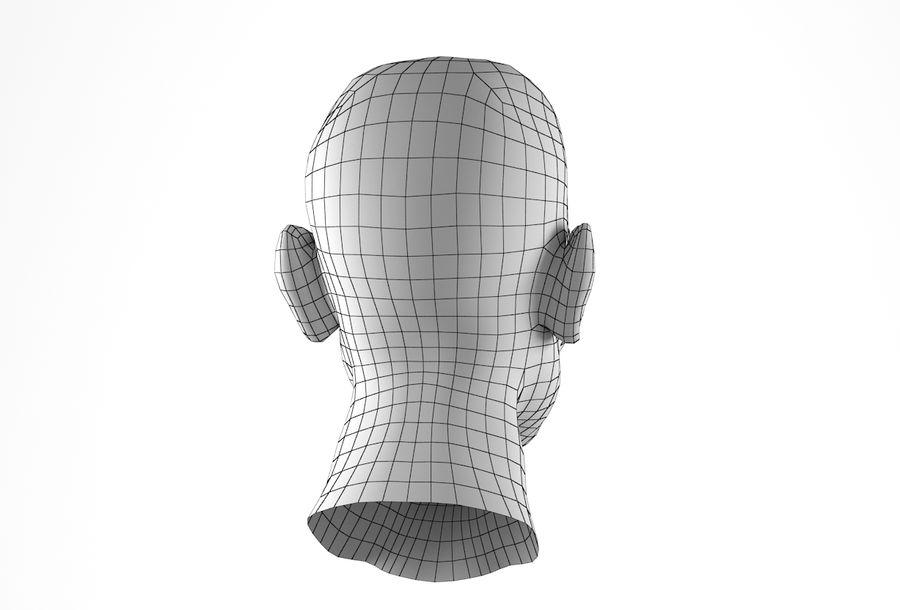 Cabeça de homem Africano Basemesh royalty-free 3d model - Preview no. 23