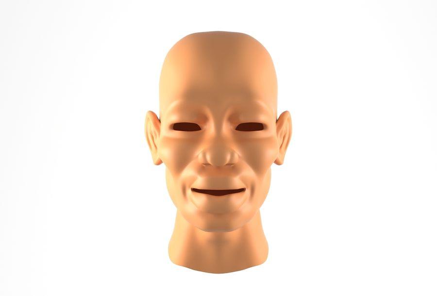 Cabeça de homem Africano Basemesh royalty-free 3d model - Preview no. 15