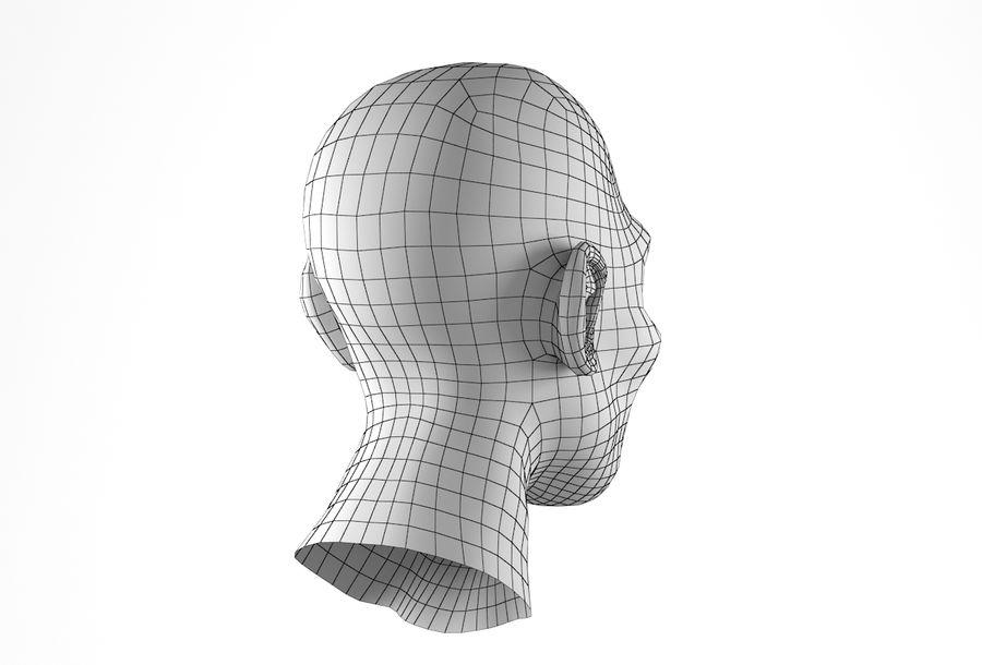 Cabeça de homem Africano Basemesh royalty-free 3d model - Preview no. 22