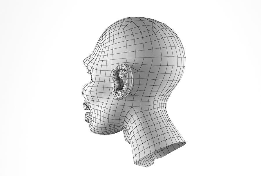 Cabeça de homem Africano Basemesh royalty-free 3d model - Preview no. 26