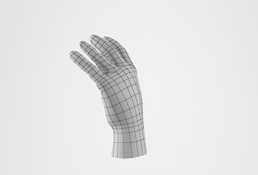 Gerçekçi insan eli royalty-free 3d model - Preview no. 23