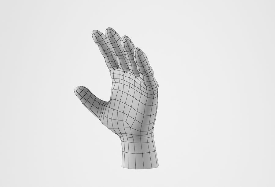 现实的人的手 royalty-free 3d model - Preview no. 32