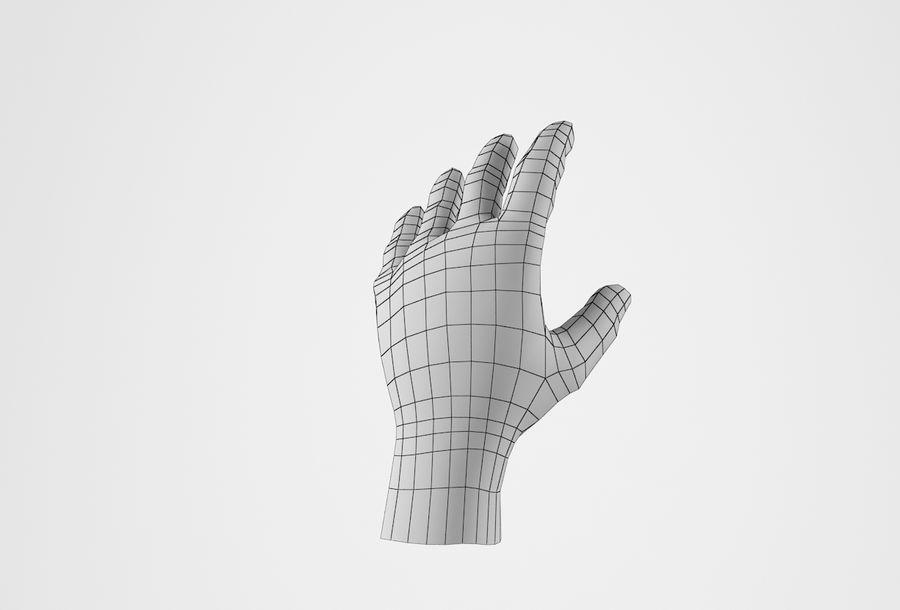 现实的人的手 royalty-free 3d model - Preview no. 21