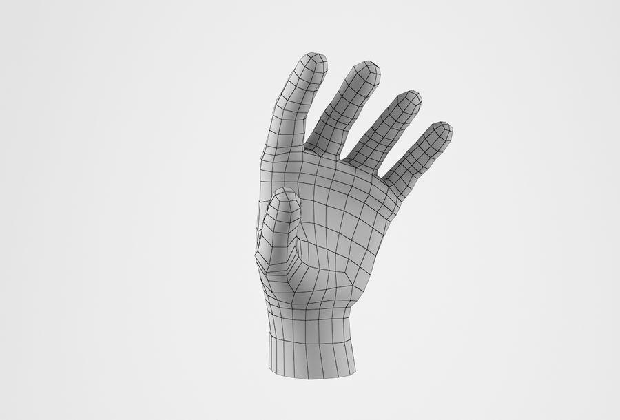 Gerçekçi insan eli royalty-free 3d model - Preview no. 26