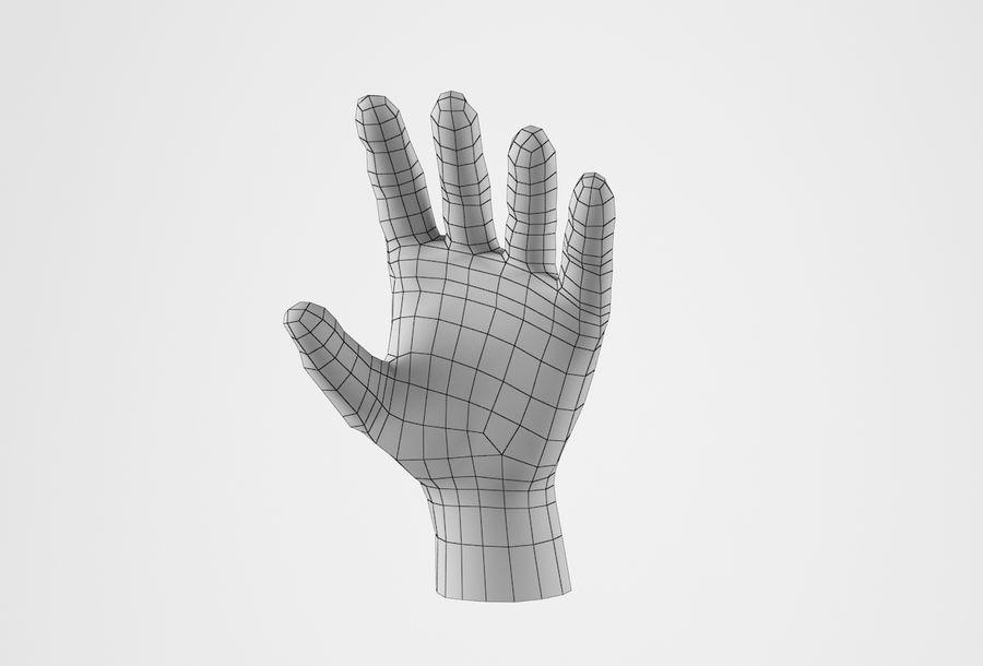 Gerçekçi insan eli royalty-free 3d model - Preview no. 25