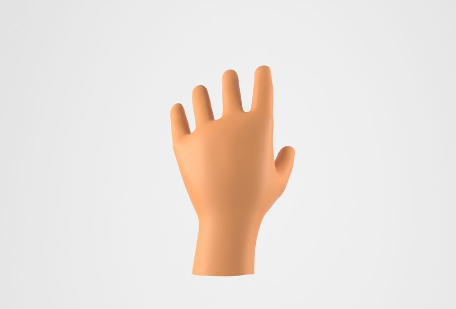 Gerçekçi insan eli royalty-free 3d model - Preview no. 13