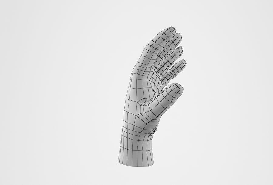 Gerçekçi insan eli royalty-free 3d model - Preview no. 27