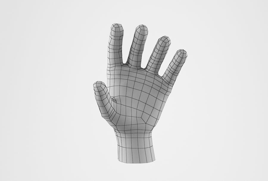 Gerçekçi insan eli royalty-free 3d model - Preview no. 18