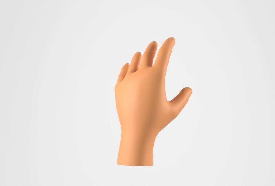 Gerçekçi insan eli royalty-free 3d model - Preview no. 5