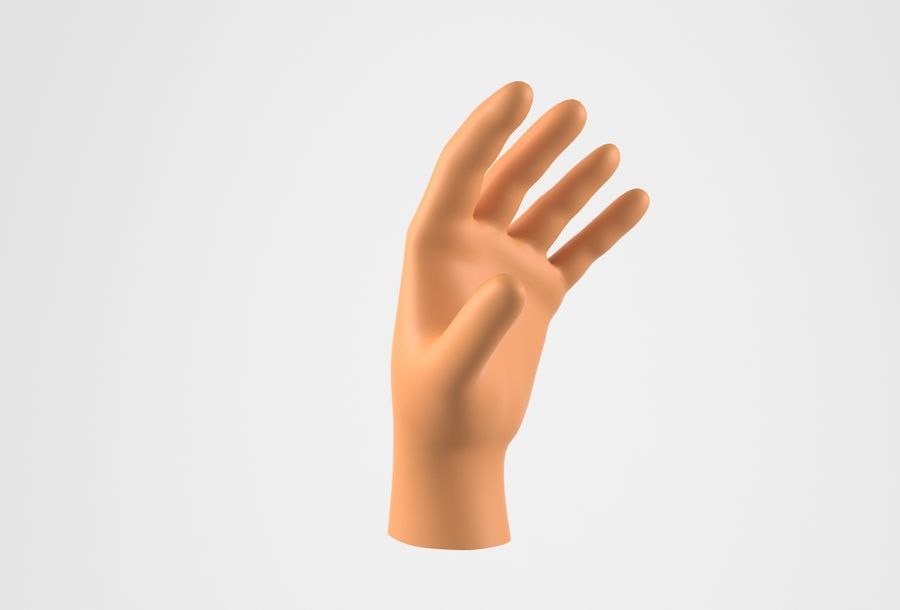 Gerçekçi insan eli royalty-free 3d model - Preview no. 3