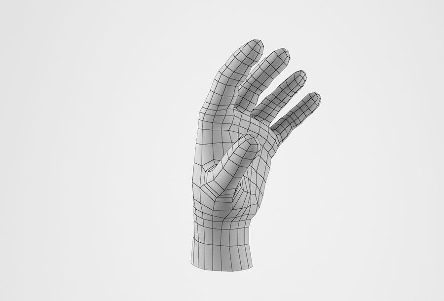 Gerçekçi insan eli royalty-free 3d model - Preview no. 19